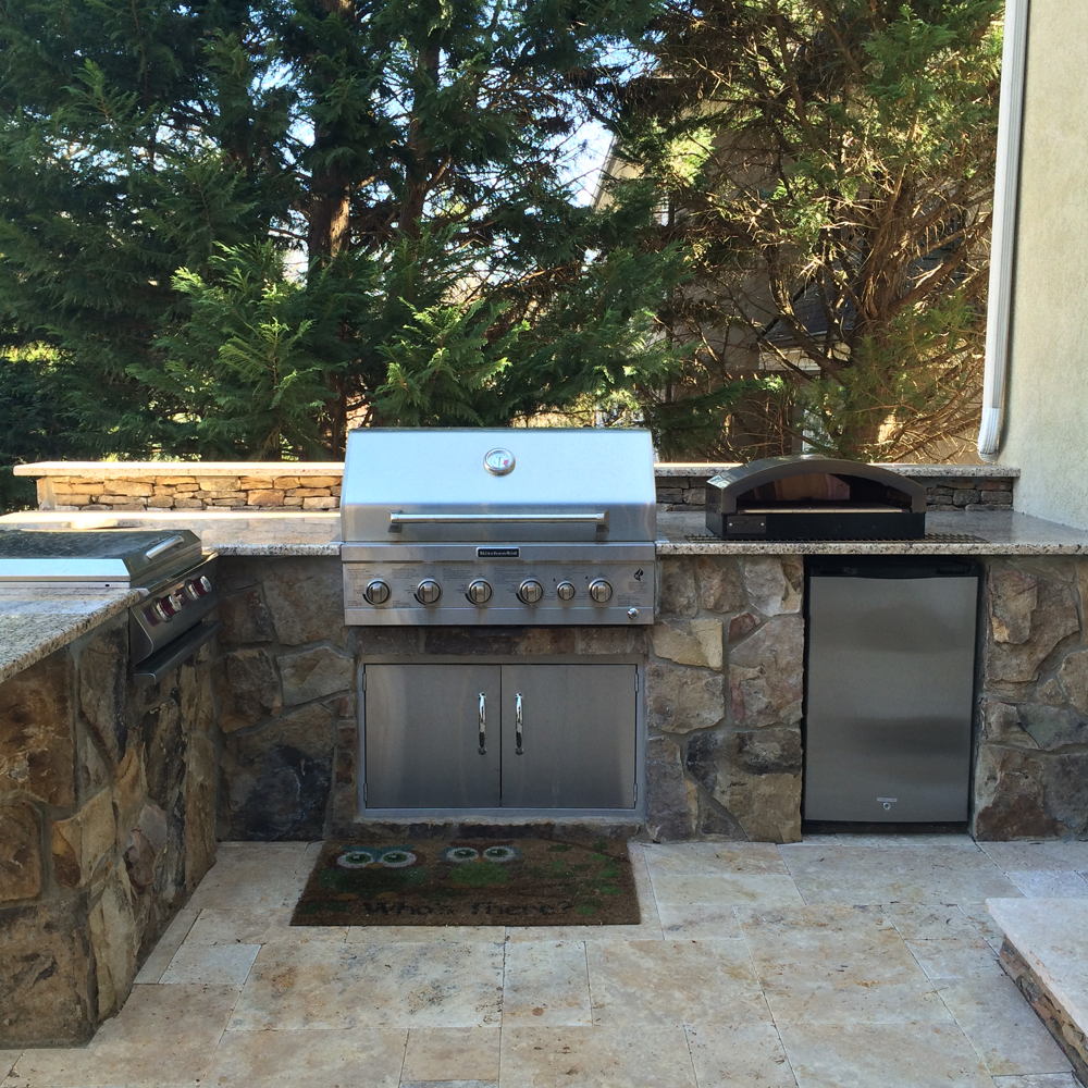 Outdoor Kitchen Fireplace Outdoor Kitchens And Fireplaces Bmf Construction Llc